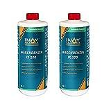 INOX® IX 200 Waschbenzin, 2 x 1L - Reinigungsbenzin für Textilien und Oberflächen in Auto oder Werkstatt mit hoher Fett- und Schmutzlösekraft